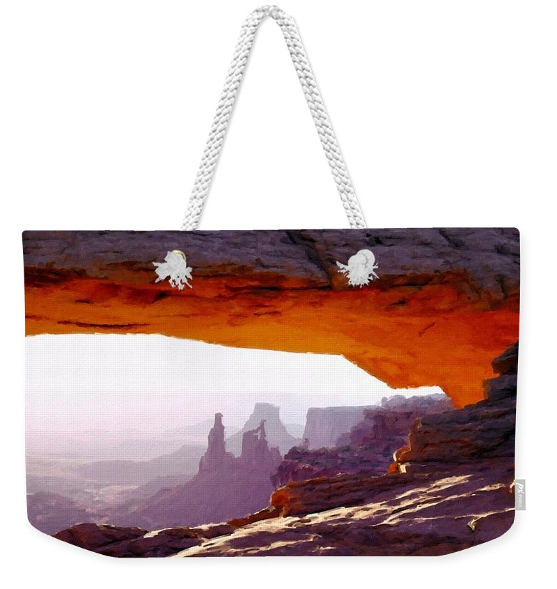 Art Weekender Tote Bag featuring the digital art Landscape Pics by Usa Map