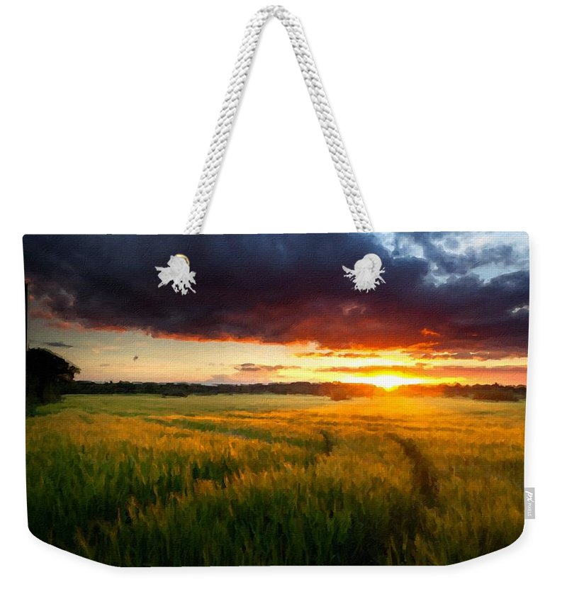 D Weekender Tote Bag featuring the digital art Landscape Pics by Usa Map