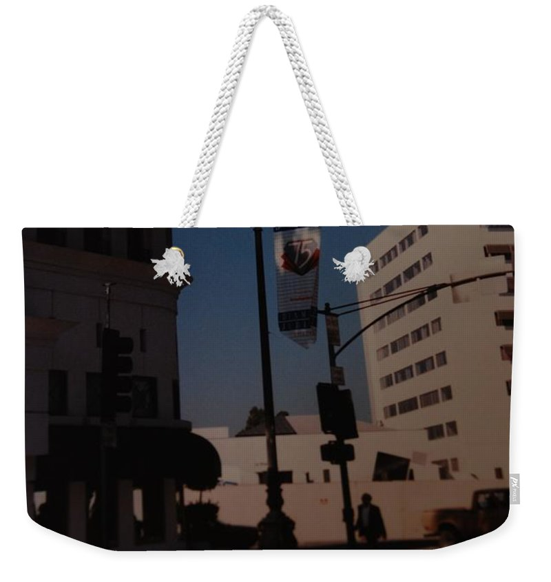 Hollywood California Weekender Tote Bag featuring the photograph 75th Hollywood by Rob Hans