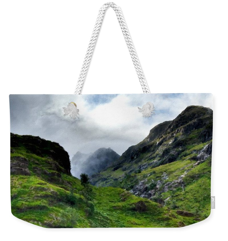 R Weekender Tote Bag featuring the digital art Landscape Graphics by Usa Map