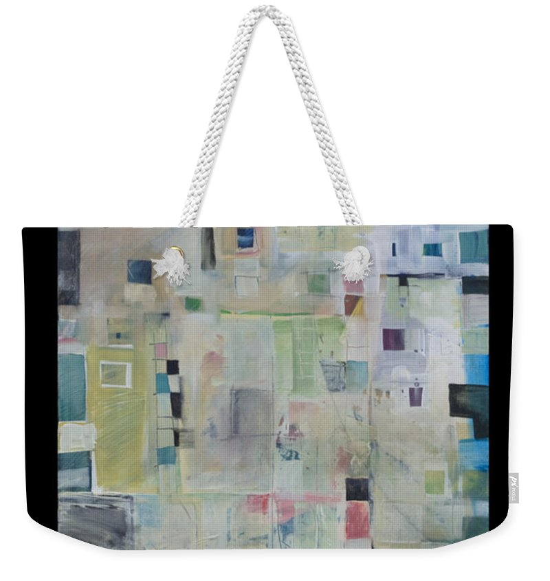 Abstract Weekender Tote Bag featuring the painting 7am In The City That Doesn by Tim Nyberg