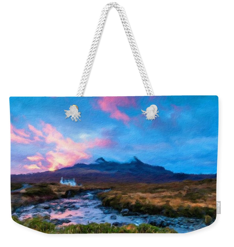 Scenery Weekender Tote Bag featuring the digital art Az Landscape by Usa Map