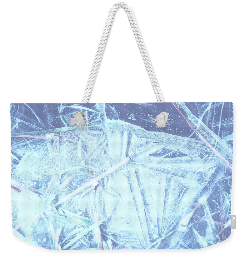 Weekender Tote Bag featuring the photograph 8. Ice Patterns, Whitfield by Iain Duncan