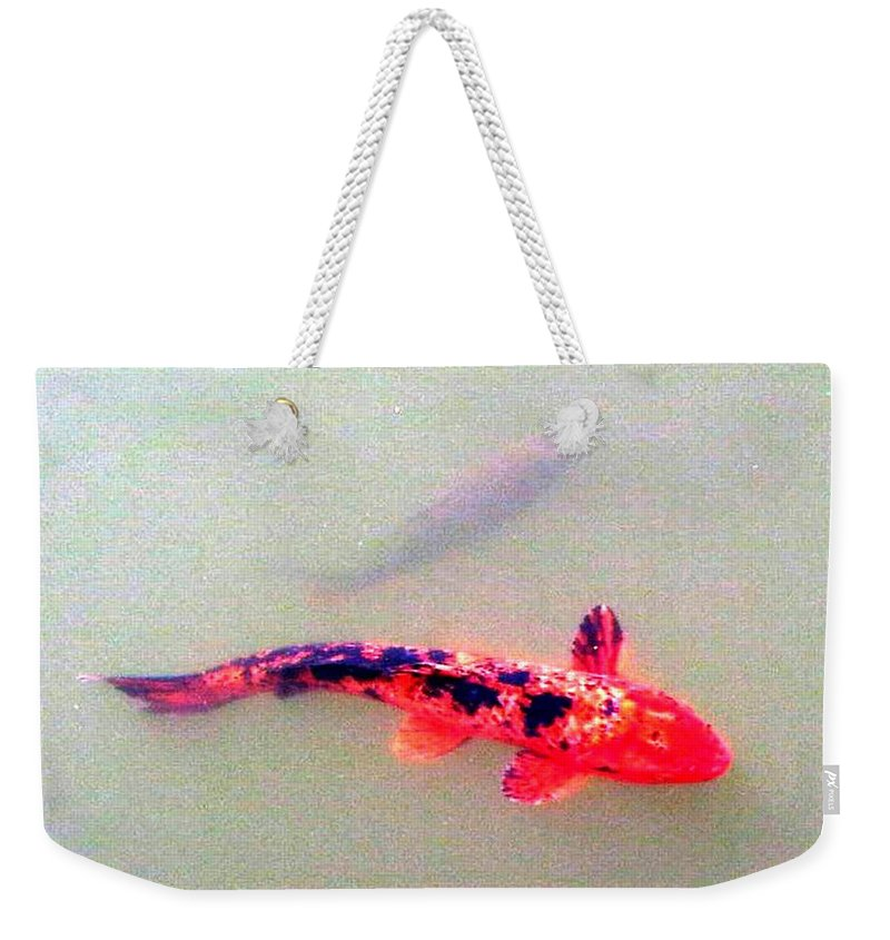 Bonsai Photo Weekender Tote Bag featuring the photograph Koi by Lord Frederick Lyle Morris