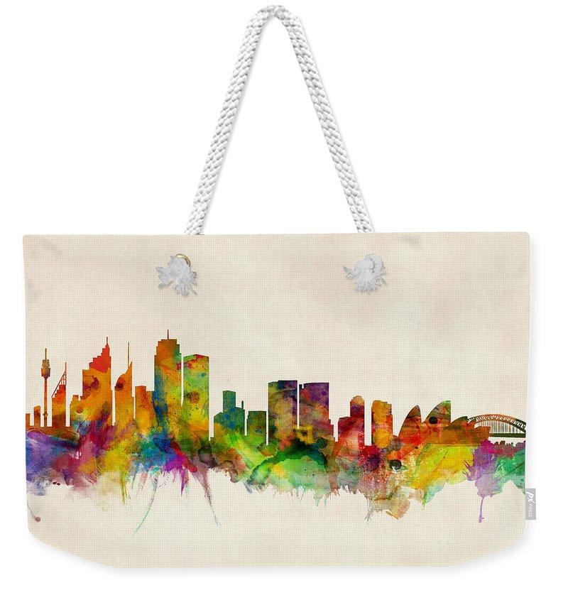 Sydney Skyline Weekender Tote Bags
