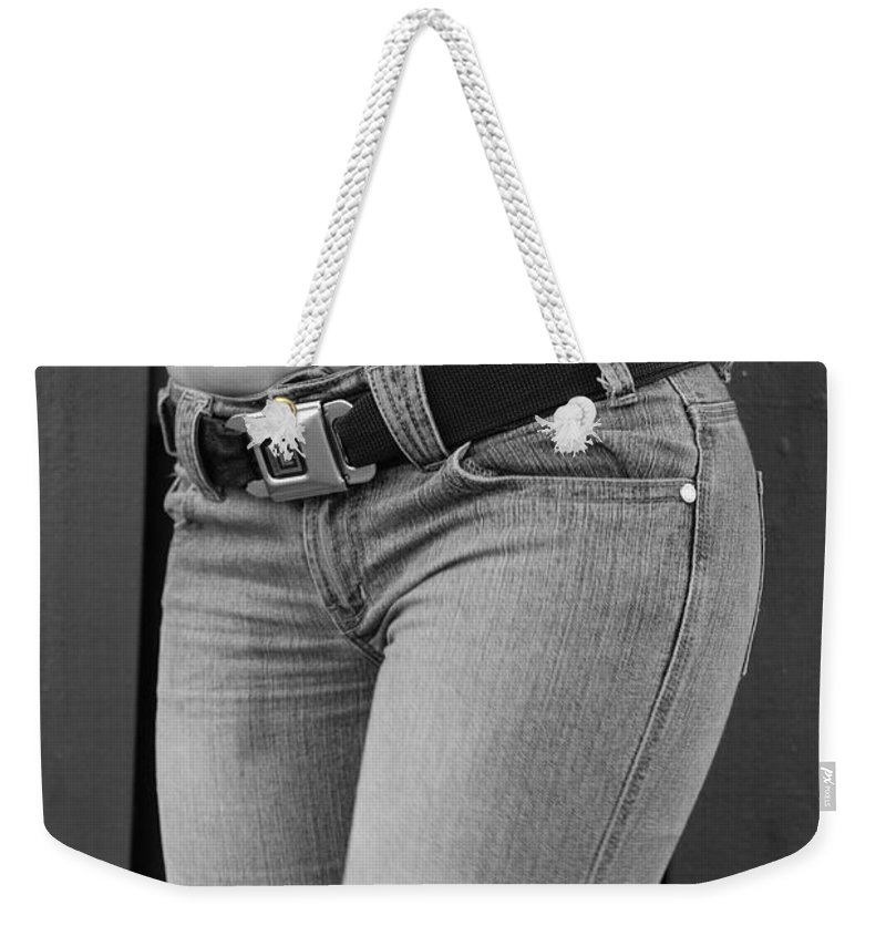 Body Weekender Tote Bag featuring the photograph The G M Belt by Rob Hans
