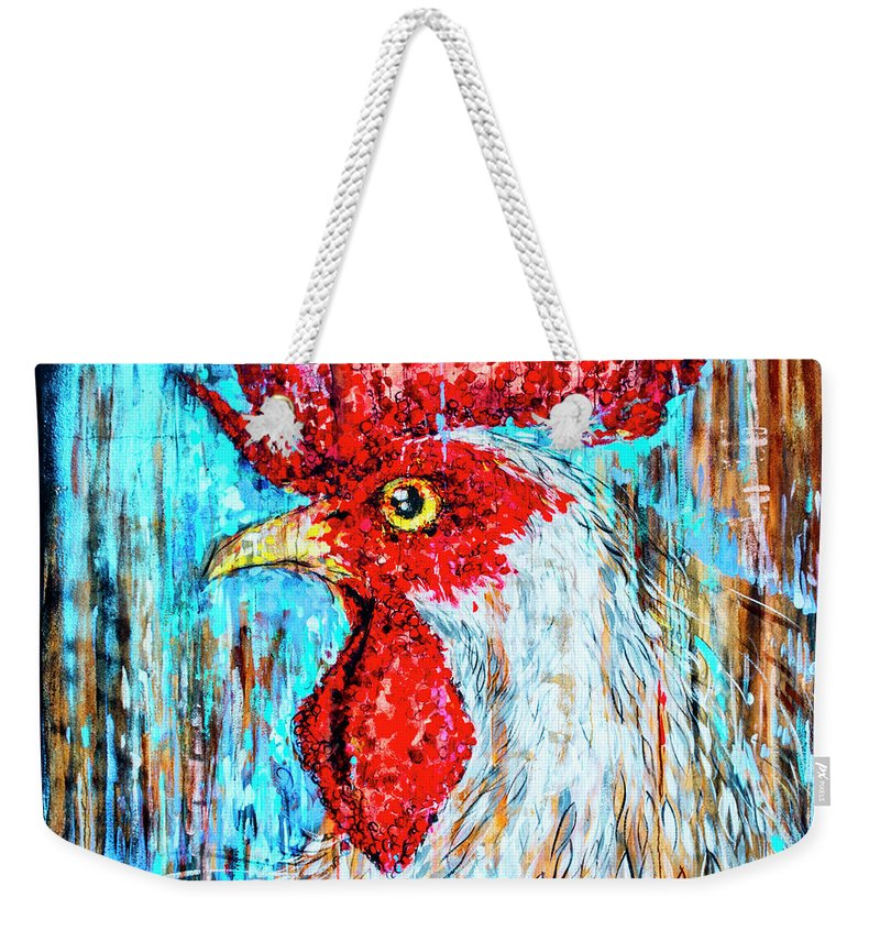Florida Weekender Tote Bag featuring the photograph 8288- Little Havana Mural by David Lange