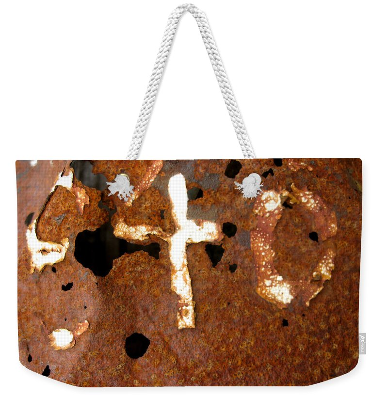 Rust Weekender Tote Bag featuring the photograph 840 by Elaine Booth-Kallweit