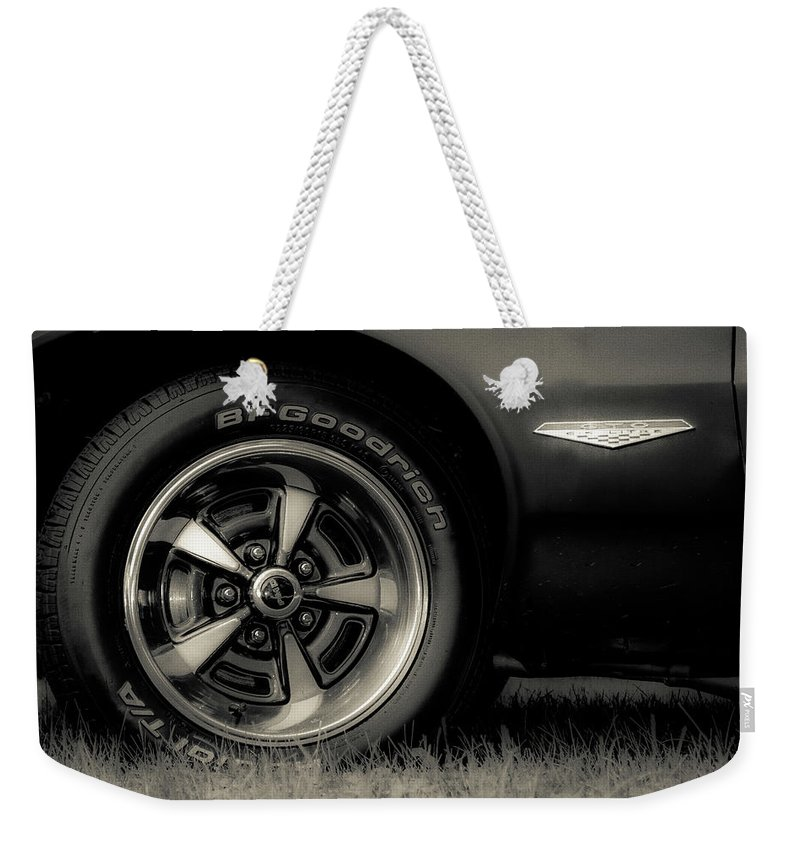 Classic Weekender Tote Bag featuring the photograph Classic Cars by Mickie Bettez
