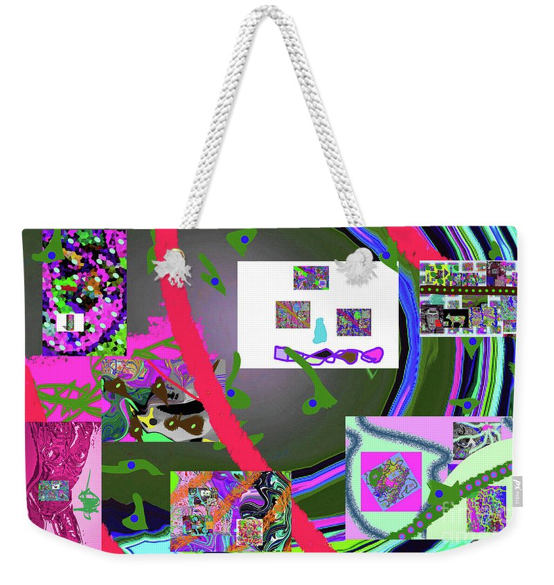 Walter Paul Bebirian Weekender Tote Bag featuring the digital art 9-21-2015cab by Walter Paul Bebirian