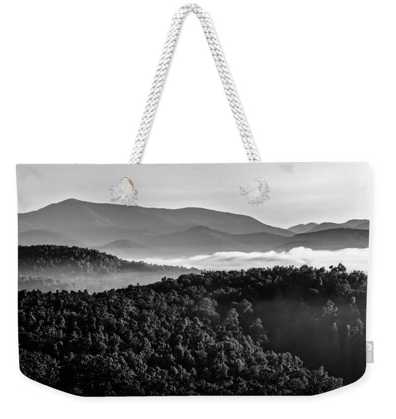 America Weekender Tote Bag featuring the photograph Early Morning On Blue Ridge Parkway by Alex Grichenko