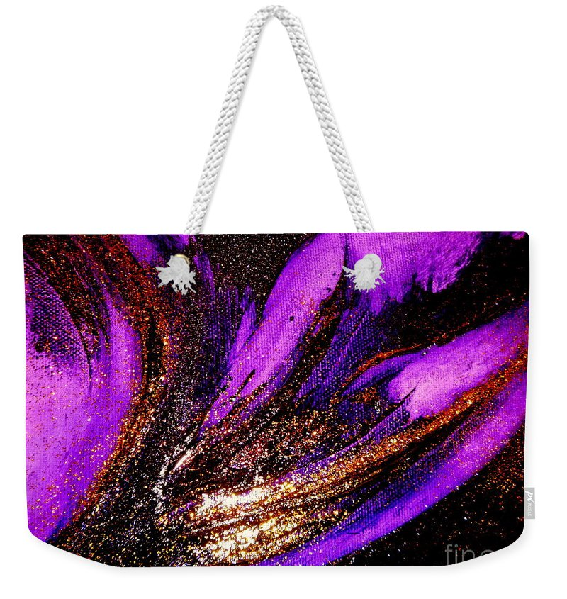 Energy Weekender Tote Bag featuring the painting Energy by Kumiko Mayer