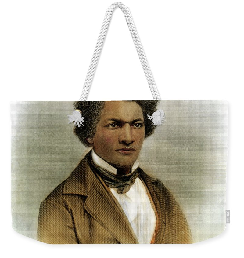 1854 Weekender Tote Bag featuring the drawing Frederick Douglass by Granger