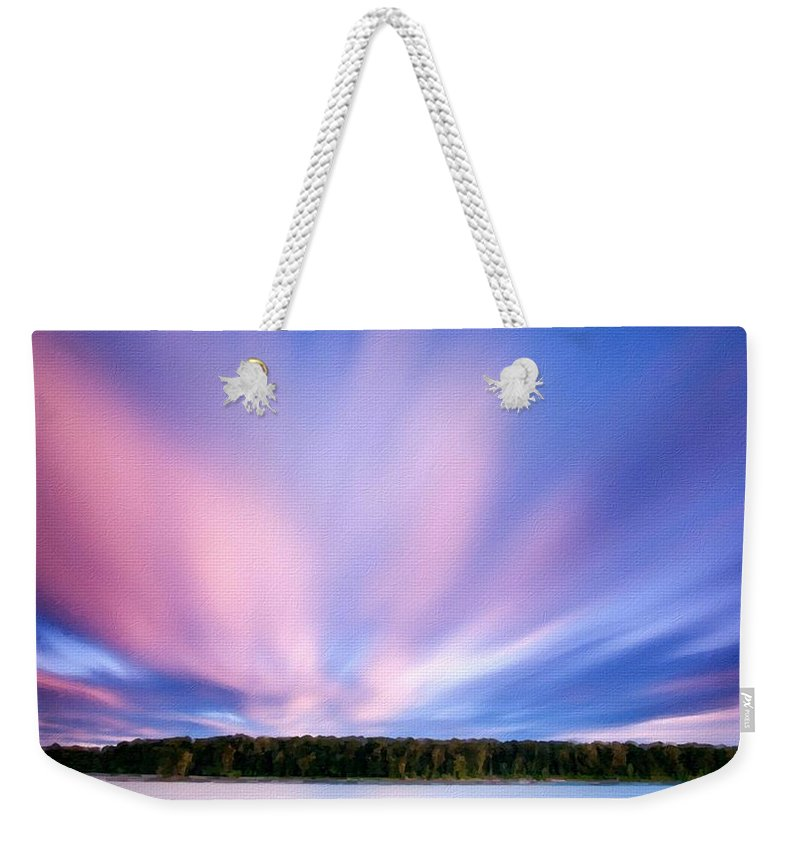 Landscape Weekender Tote Bag featuring the digital art Landscape Jobs by Usa Map