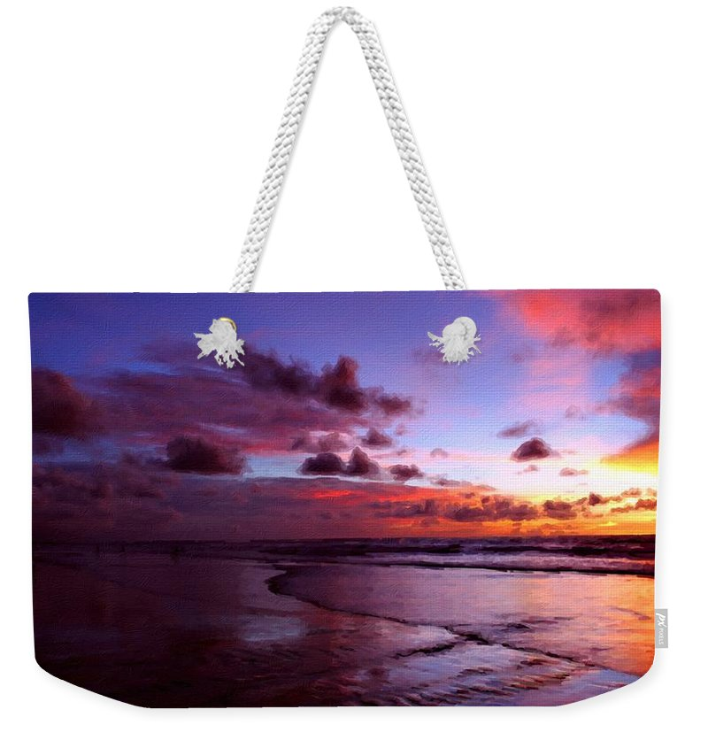 Landscape Weekender Tote Bag featuring the digital art Landscape Nature by Usa Map