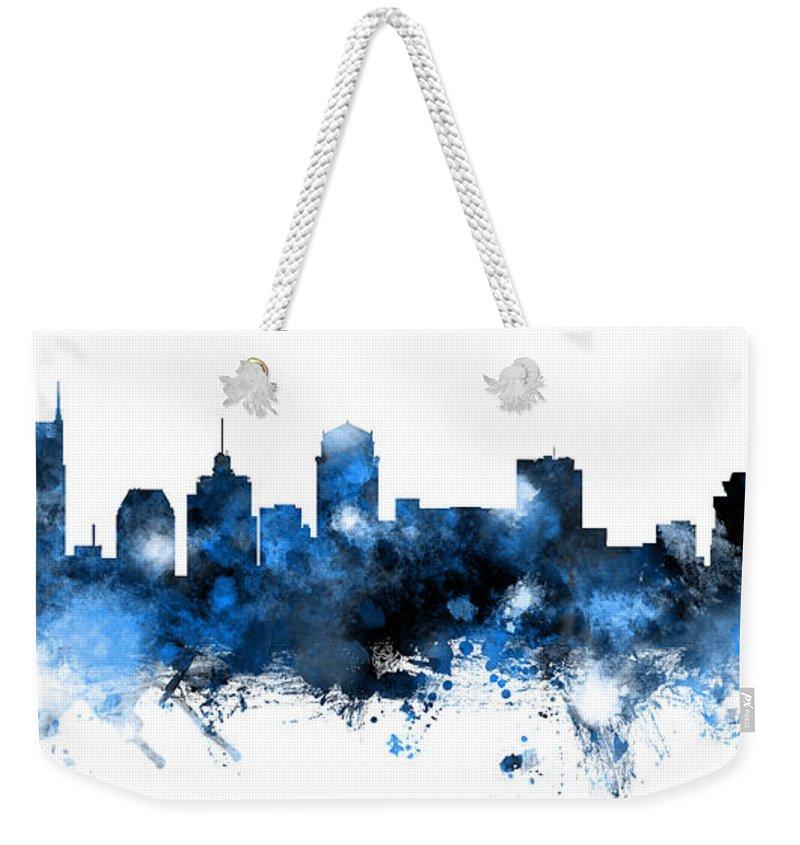 Nashville Skyline Weekender Tote Bags