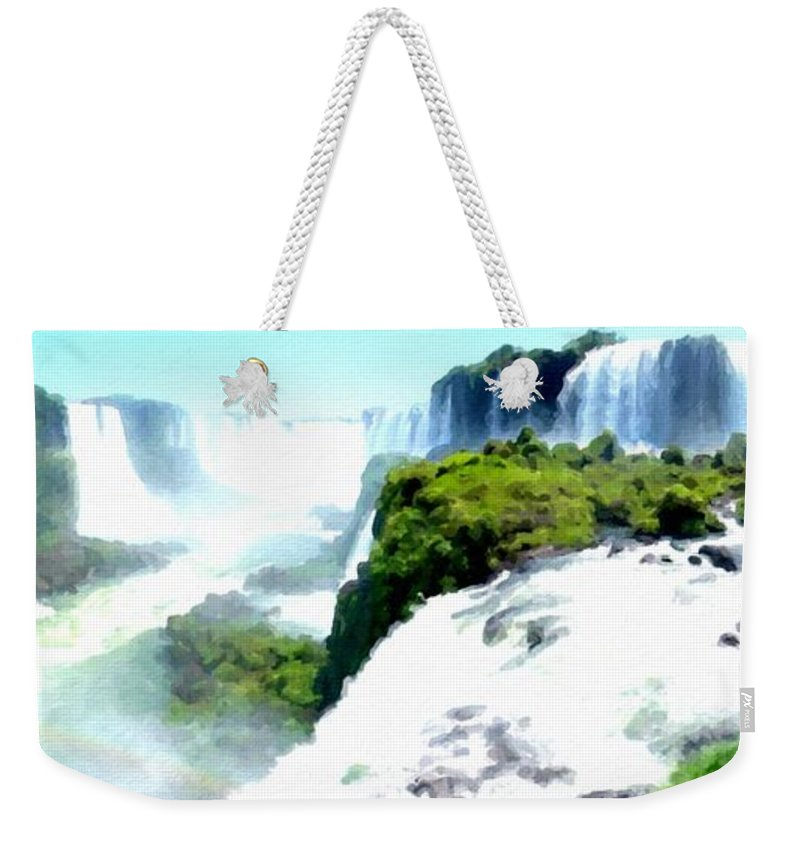 D Weekender Tote Bag featuring the digital art Landscape Jobs by Usa Map