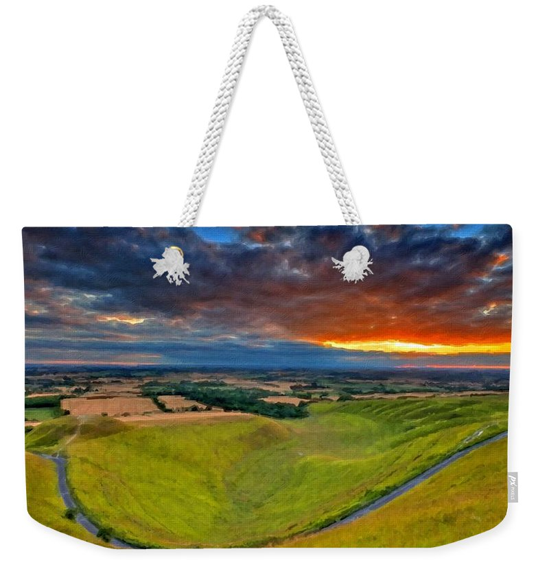 Paint Weekender Tote Bag featuring the digital art Landscape Paintings by Usa Map