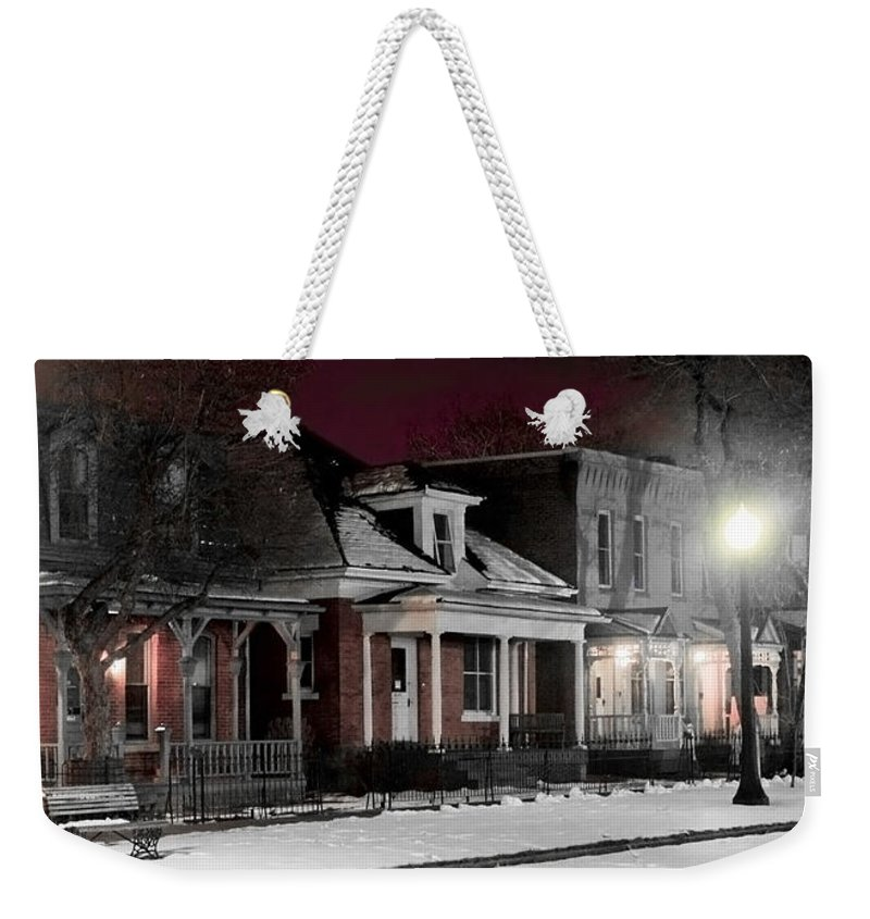 9th Weekender Tote Bag featuring the photograph 9th St. Auraria by Jeffery Ball