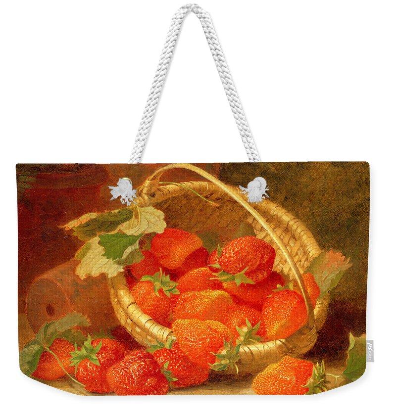 Strawberry Weekender Tote Bags