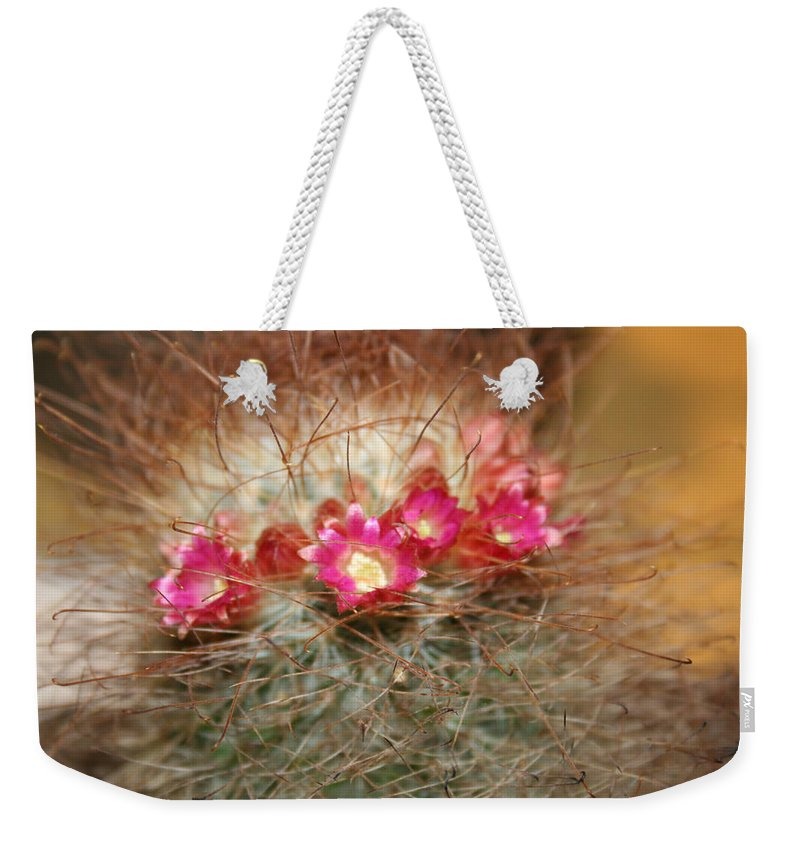 Flowers Nature Weekender Tote Bag featuring the photograph A Beautiful Blur by Linda Sannuti