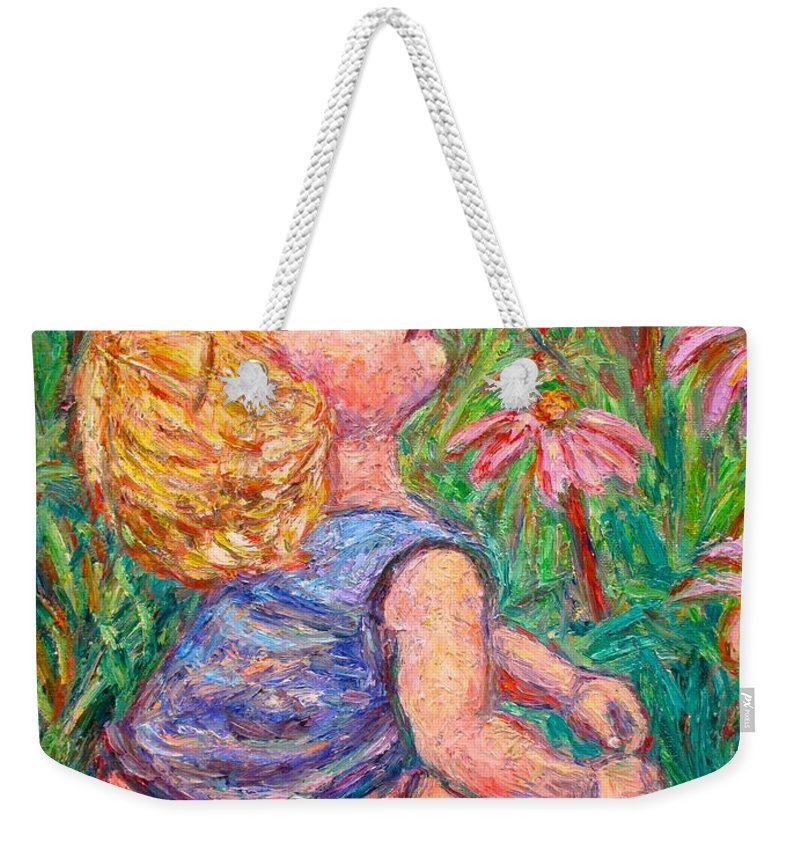 Child Weekender Tote Bag featuring the painting A Beautiful Moment by Kendall Kessler
