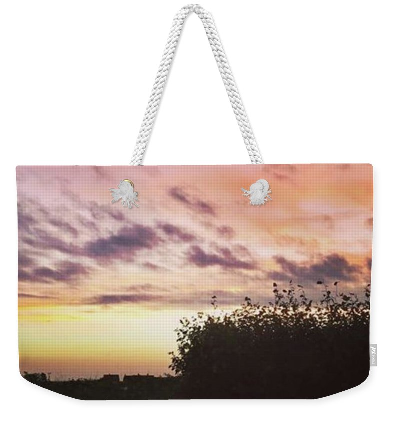 Norfolklife Weekender Tote Bag featuring the photograph A Beautiful Morning Sky At 06:30 This by John Edwards