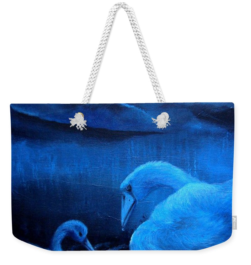 Weekender Tote Bag featuring the painting A Beautiful Night by Glory Fraulein Wolfe
