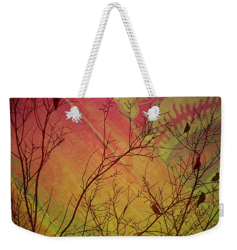 Birds Weekender Tote Bag featuring the photograph A Bird's Dream Of Summer by Tara Turner