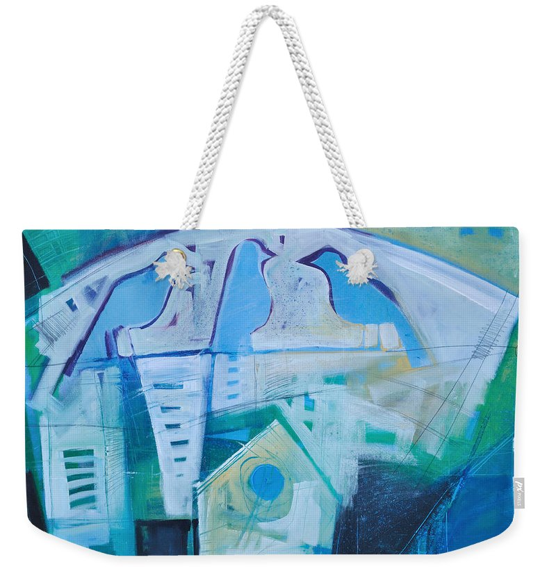 Birds Weekender Tote Bag featuring the painting A Birds Life by Tim Nyberg