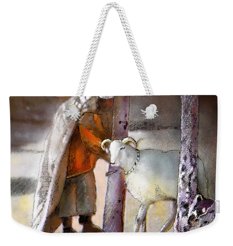 Eid Ul Adha Weekender Tote Bag featuring the painting A Blessed Eid by Miki De Goodaboom