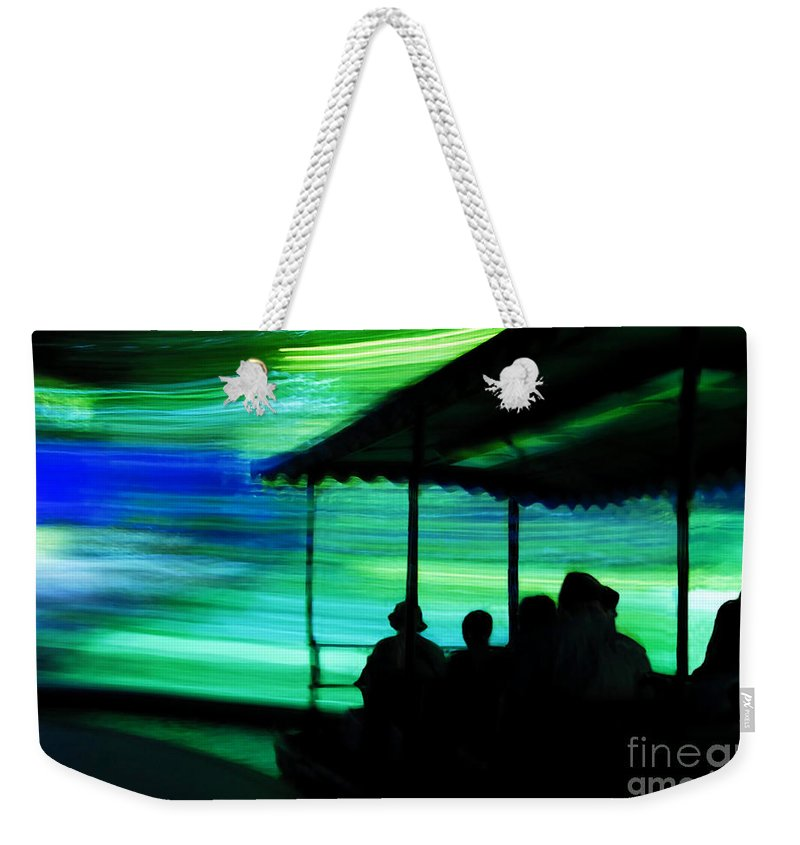 Time Travel Weekender Tote Bag featuring the photograph A Boat Ride Through Time by David Lee Thompson