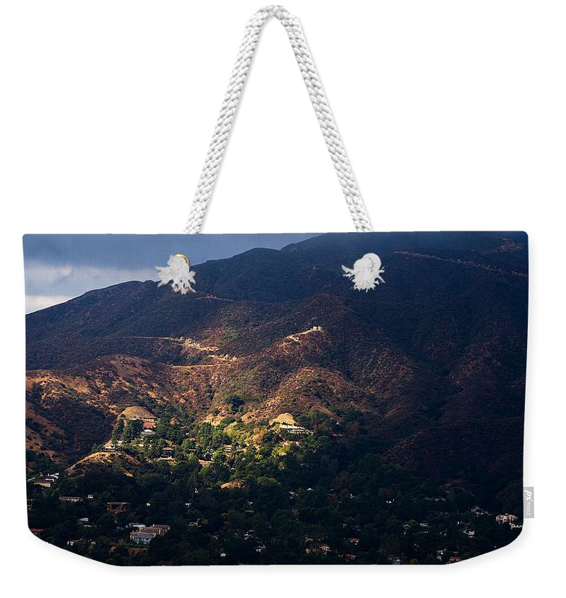 Clay Weekender Tote Bag featuring the photograph A Break In The Clouds In Southern California by Clayton Bruster