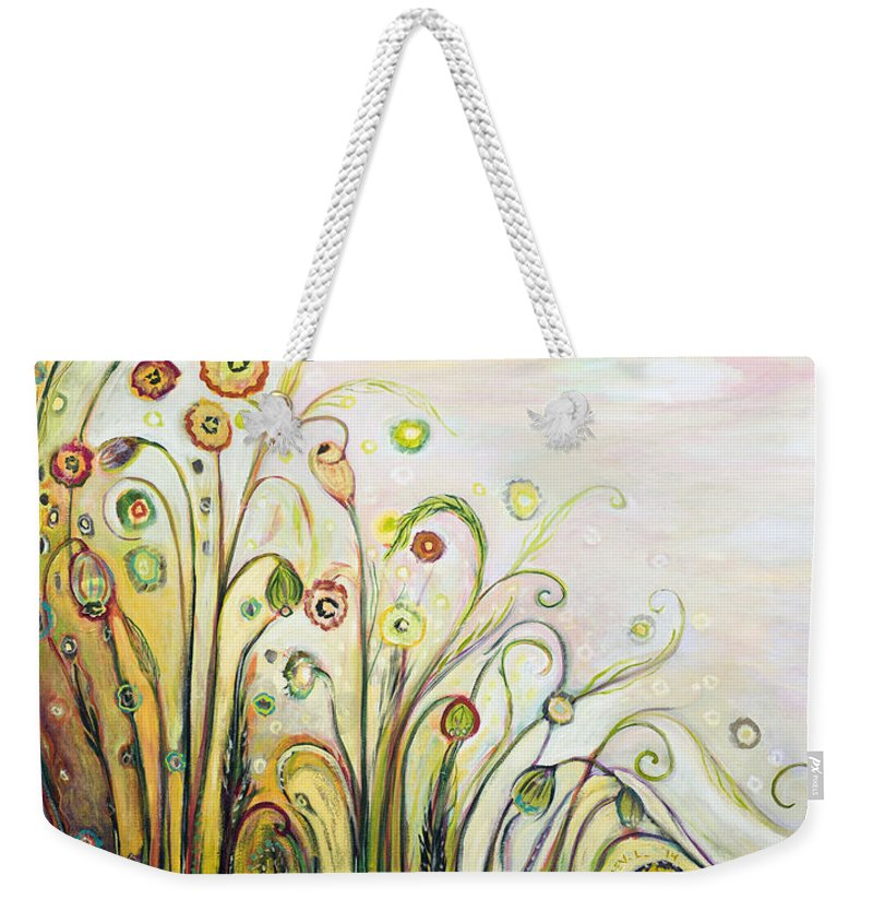Landscape Weekender Tote Bag featuring the painting A Breath Of Fresh Air by Jennifer Lommers
