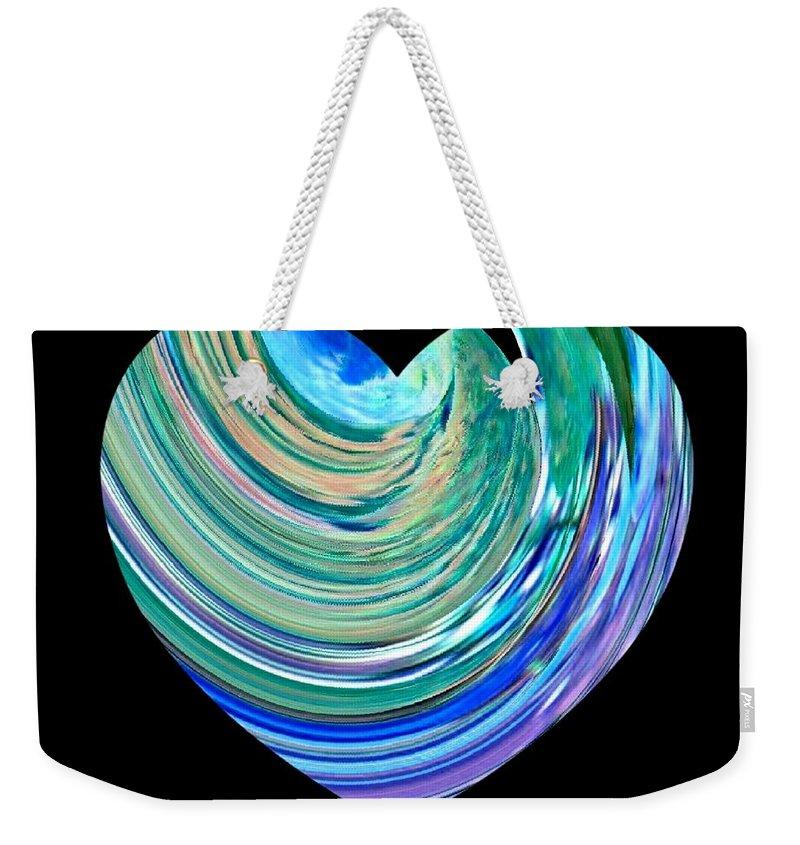 Broken Heart Weekender Tote Bag featuring the digital art A Broken Heart by Will Borden