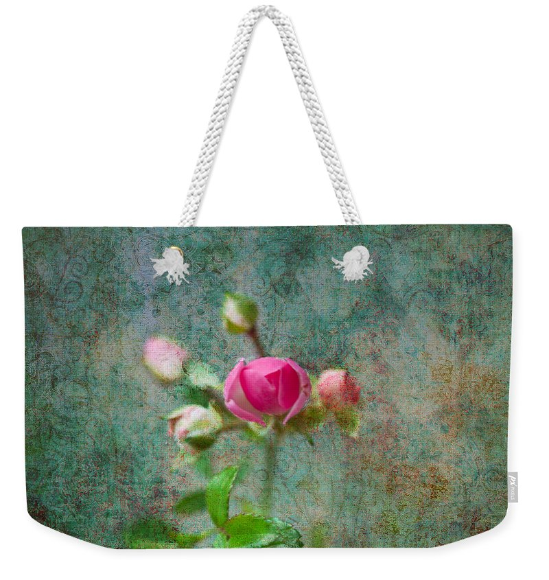 Rose Weekender Tote Bag featuring the photograph A Bud - A Rose by Marie Jamieson