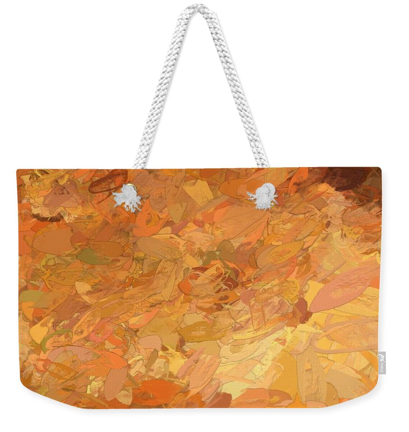 Shades Weekender Tote Bag featuring the digital art A Burst Of Sunshine In Winter by Debra Lynch