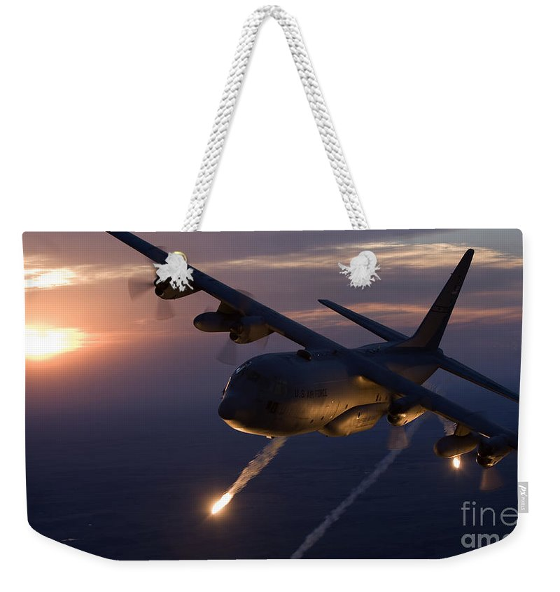 a c 130 hercules releases flares weekender tote bag for sale by high