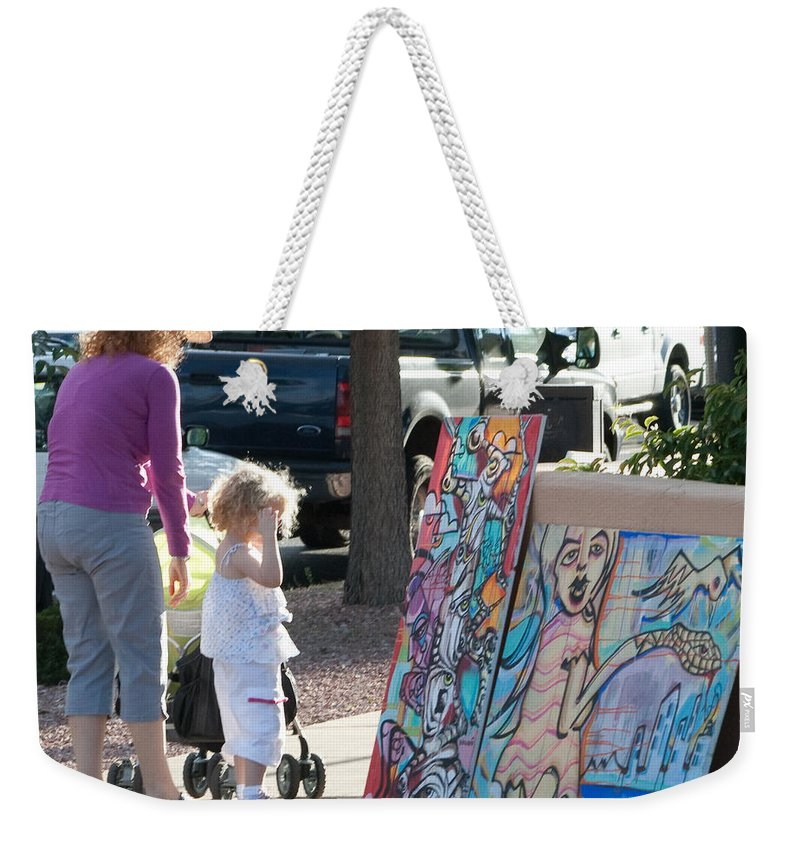 Paintings Weekender Tote Bag featuring the photograph A Child's Eye by Angus Hooper Iii