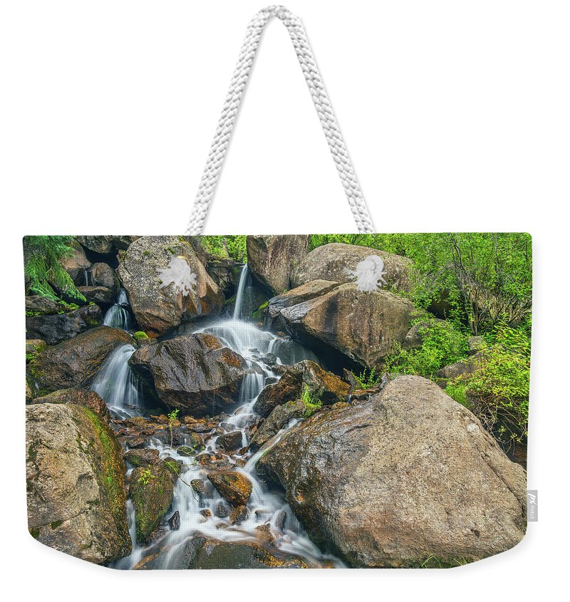 Catamount Creek Weekender Tote Bag featuring the photograph A Clarion Call For The Awareness Of The Sanctity Of Nature by Bijan Pirnia