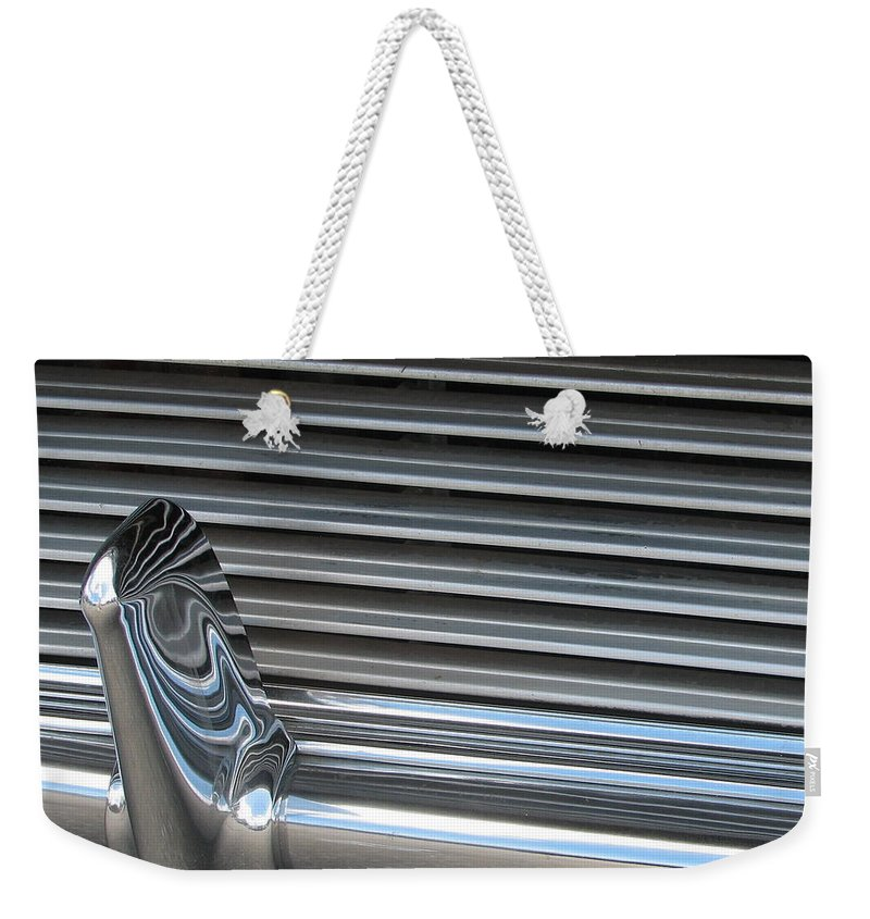 Thunderbird Weekender Tote Bag featuring the photograph A Clean Grill by Kelly Mezzapelle