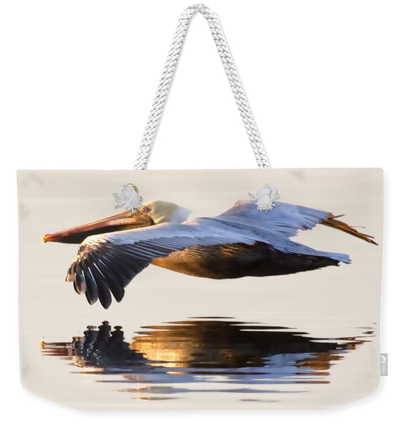 Pelican Weekender Tote Bag featuring the photograph A Closer Look by Janet Fikar
