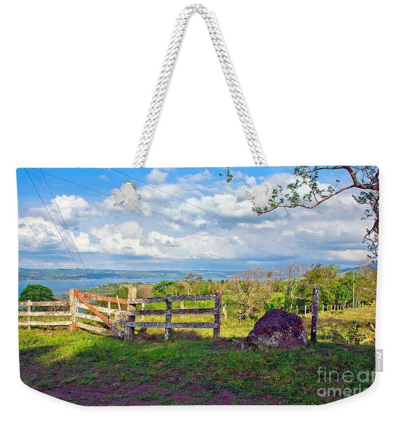 Landscape Weekender Tote Bag featuring the photograph A Costa Rica View by Madeline Ellis