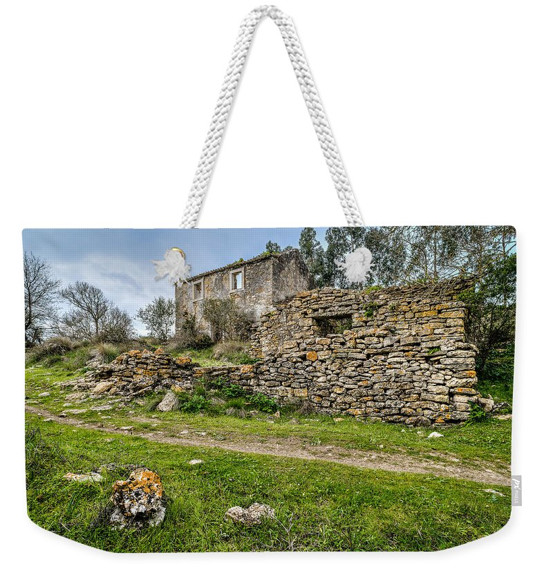 Cottage Weekender Tote Bag featuring the photograph A Cottage In Ruins by Marco Oliveira