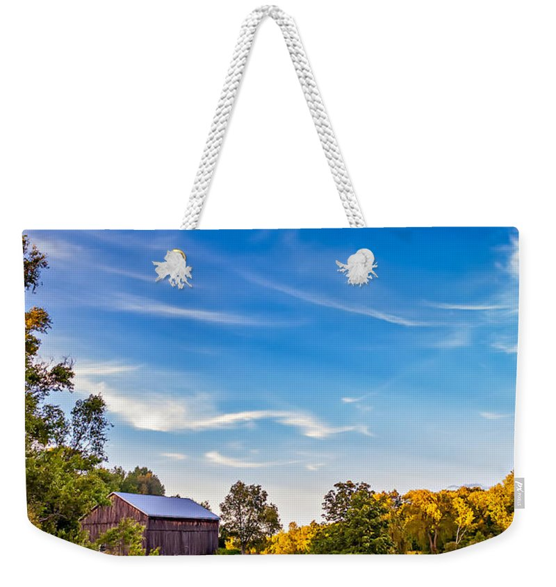Pond Weekender Tote Bag featuring the photograph A Country Place 3 by Steve Harrington