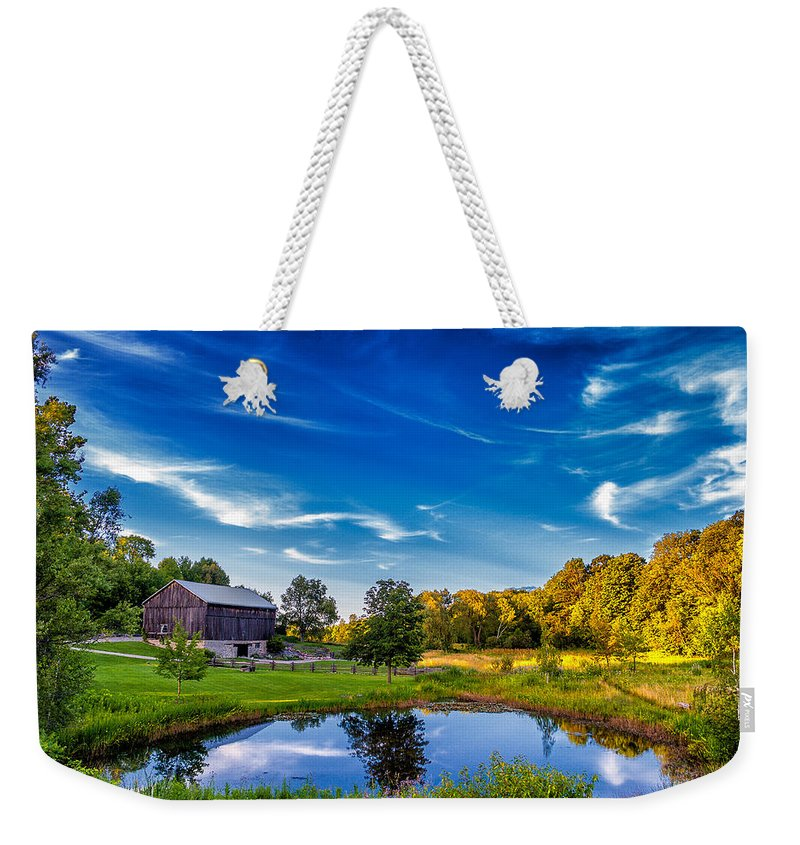 Pond Weekender Tote Bag featuring the photograph A Country Place by Steve Harrington