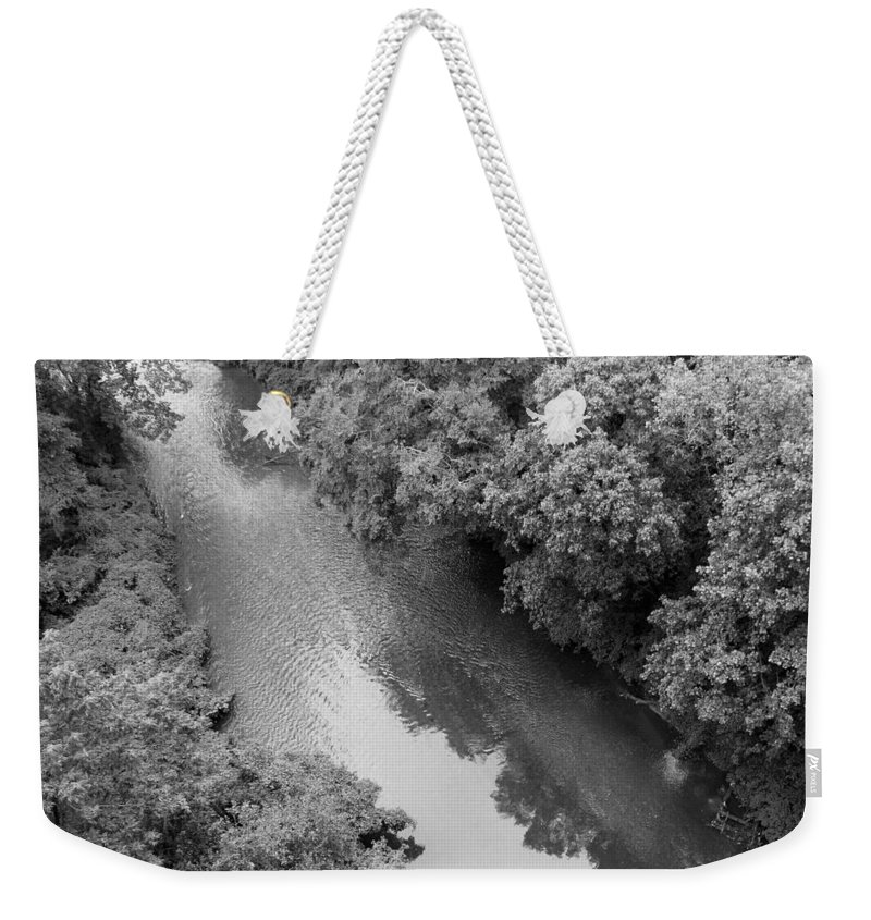 Rock Weekender Tote Bag featuring the photograph A Creek Runs Through It -- 2 by Cora Wandel