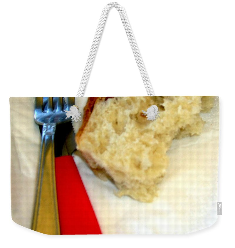 Bread Weekender Tote Bag featuring the photograph A Crust Of Bread by Mindy Newman