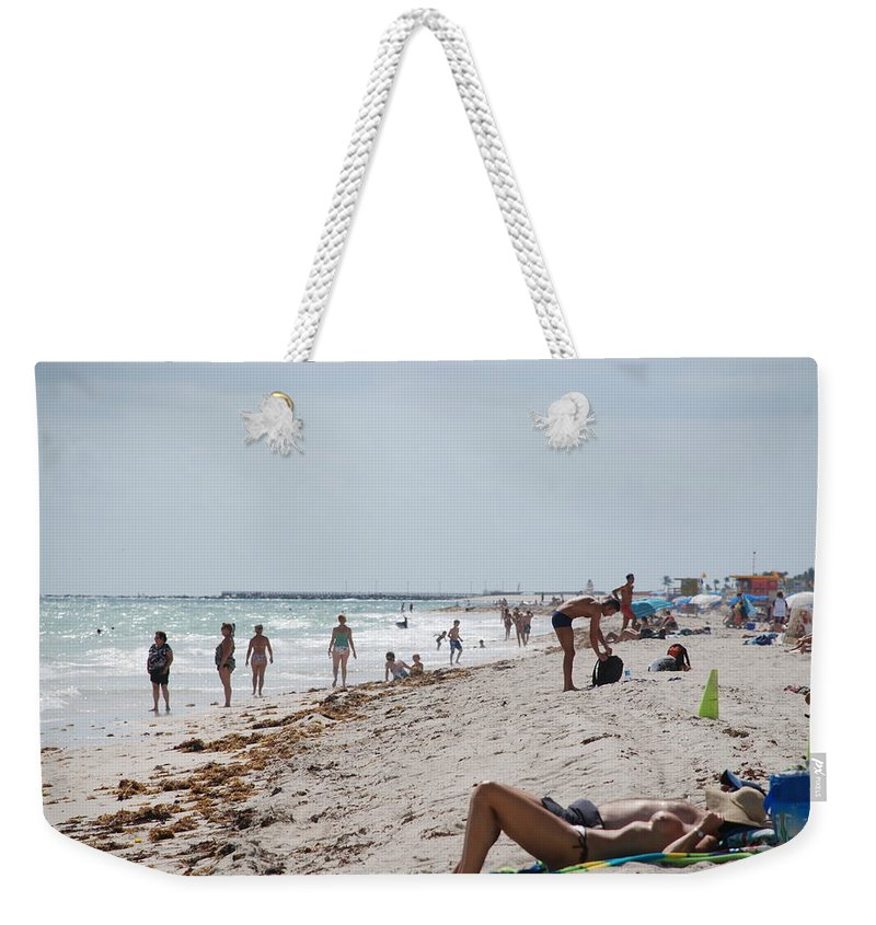 Nude Weekender Tote Bag featuring the photograph A Day At Paradise Beach by Rob Hans