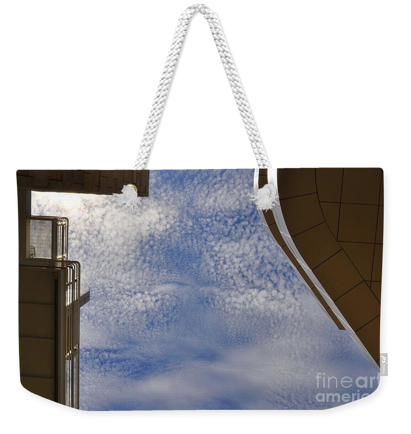 Clay Weekender Tote Bag featuring the photograph A Day At The Getty by Clayton Bruster